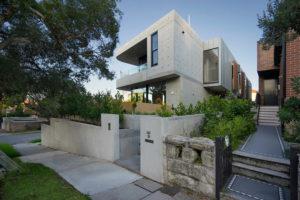 Bronte luxury modern residential home, sydney, concrete formwork, zinc cladding, Professional Residential photographer luke zeme