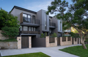 Neutral Bay Modern Residential apartments, Metal Cladding exterior building, Sydney Architecture photographer luke zeme photography
