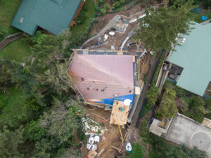 Construction Progress Aerial of a Copper Roof Installation, Sydney's Northern Beaches, Sydney Drone Aerial Images by Luke Zeme Photography