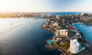 Manly Ferry Boats and South Manly Suburb, Aerial Drone shot, Professional Sydney Aerial and Drone Photography Luke Zeme, Residential, Real Estate and Architecture