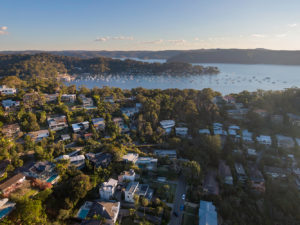 Pittwater house from above and the pittwater boats, Northern Sydney Beaches, Sydney Aerial Photographer, Sydney Drone Photographer, Luke Zeme
